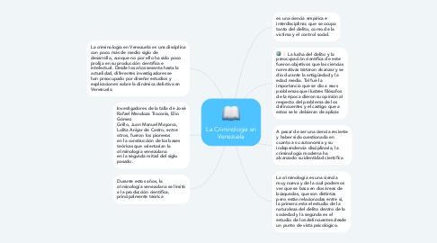 Mind Map: La Criminologia en Venezuela