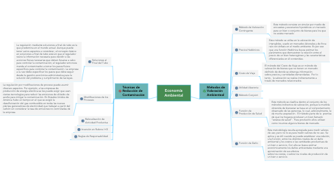 Mind Map: Economía Ambiental