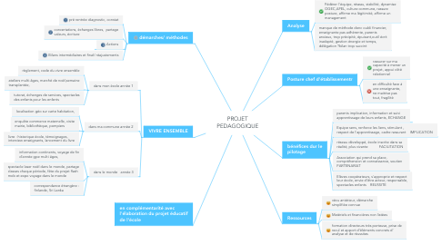 Mind Map: PROJET PEDAGOGIQUE