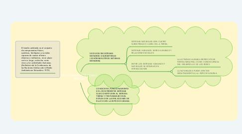 Mind Map: MEDIO AMBIENTE COMO SISTEMA