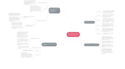 Mind Map: Las profesiones en su contexto historico