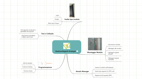 Mind Map: GestioneSegnali Analogici