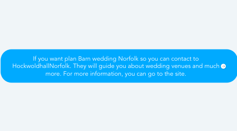 Mind Map: If you want plan Barn wedding Norfolk so you can contact to HockwoldhallNorfolk. They will guide you about wedding venues and much more. For more information, you can go to the site.