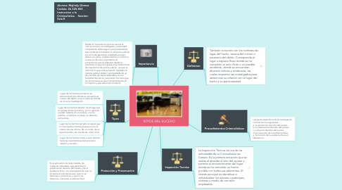 Mind Map: SITIOS DEL SUCESO