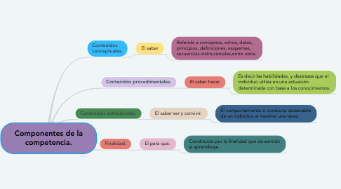 Mind Map: Componentes de la competencia.