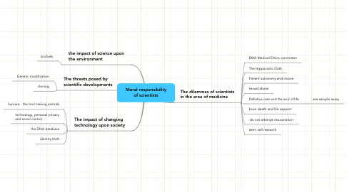 Mind Map: Moral responsibility of scientists
