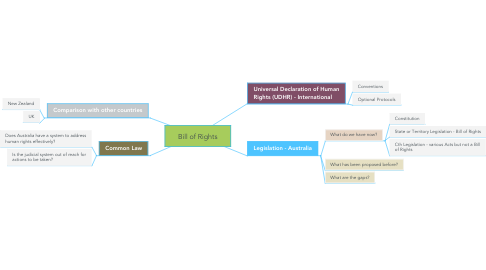 Mind Map: Bill of Rights