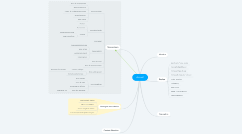 Mind Map: Accueil