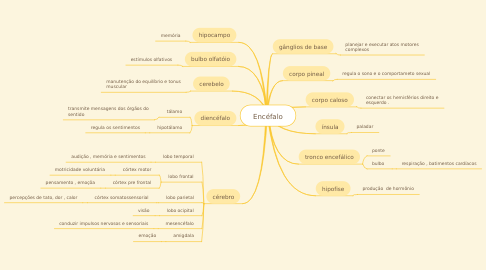 Mind Map: Encéfalo