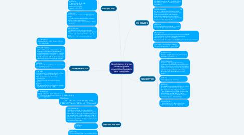 Mind Map: Características técnicas utilizados para la extracción de los drivers de un computador