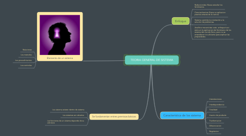 Mind Map: TEORIA GENERAL DE SISTEMA
