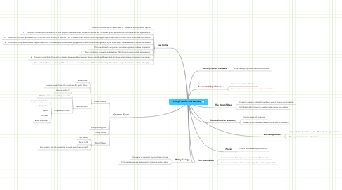 Mind Map: Policy Transfer and Learning