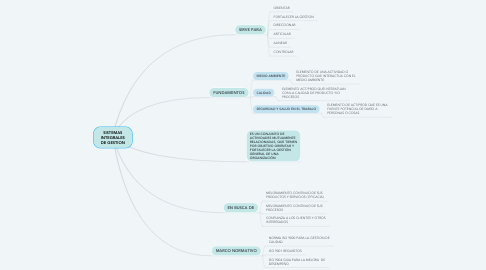Mind Map: SISTEMAS INTEGRALES DE GESTION