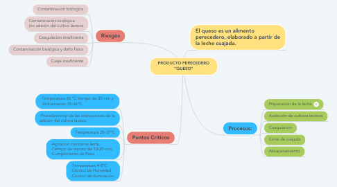 """Mind Map: PRODUCTO PERECEDERO """"QUESO"""""""