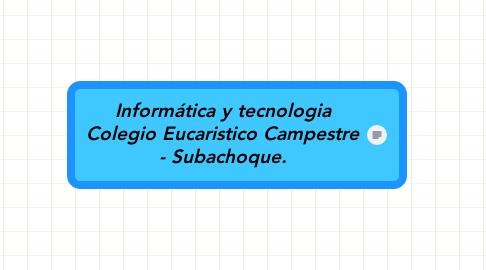 Mind Map: Informática y tecnologia Colegio Eucaristico Campestre - Subachoque.