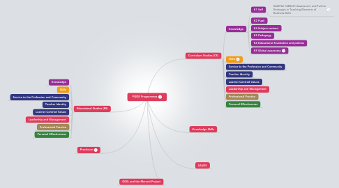 Mind Map: PGDE Programmes