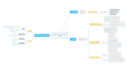 Mind Map: Implementacion de Joint Venture