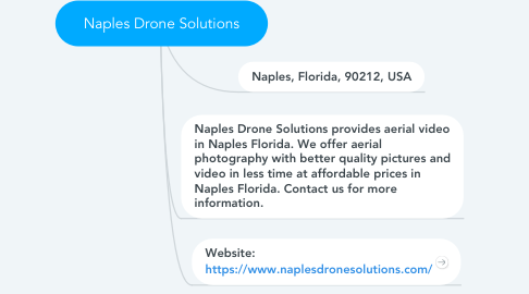Mind Map: Naples Drone Solutions