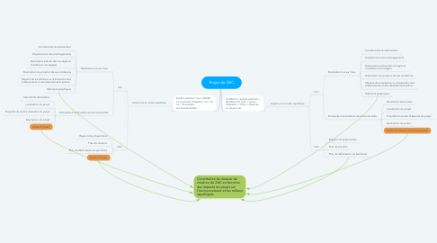Mind Map: Projet de ZAC