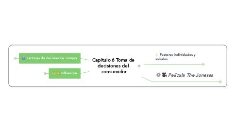 Mind Map: Capítulo 6 Toma de  decisiones del  consumidor