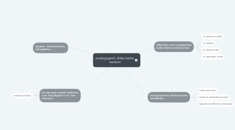 Mind Map: pedagogisch didactische wenken