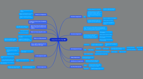 Mind Map: Assignment of the Rights