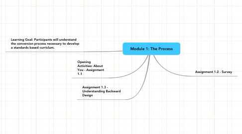 Mind Map: Module 1: The Process