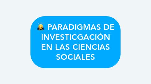 Mind Map: PARADIGMAS DE INVESTICGACIÓN EN LAS CIENCIAS SOCIALES