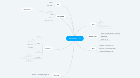 Mind Map: Kamer van Julia