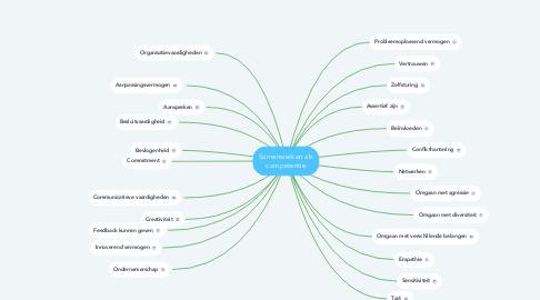 Mind Map: Samenwerken als competentie