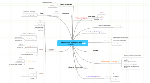 Mind Map: l'image photographique qui nous regarde