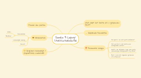 Mind Map: Domein 9 Coping/ Stressintolerantie