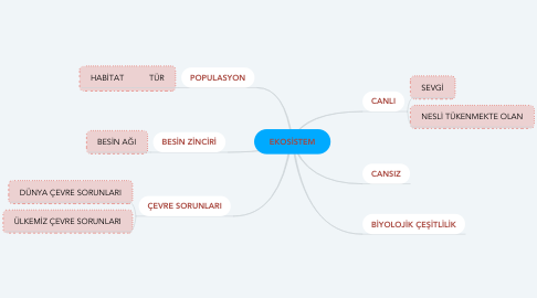 Mind Map: EKOSİSTEM