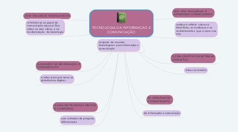 Mind Map: TECNOLOGIA DA INFORMACAO E COMUNICAÇÃO