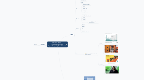Mind Map: MELANIE DEZIEL TRUTHful Stories: The 5 Keys to Compelling Brand Content