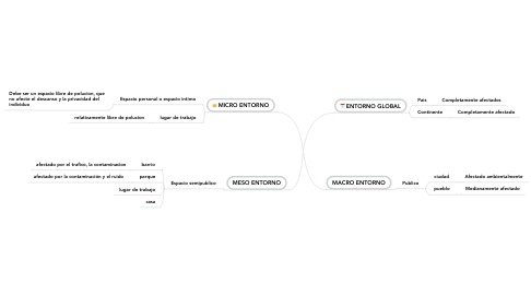 Mind Map: NIVELES SOCIO ESPACIALES