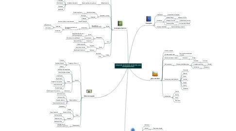 Mind Map: Campo de acción de la economía y sus conceptos básicos