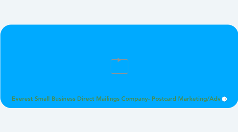 Mind Map: Everest Small Business Direct Mailings Company- Postcard Marketing/Adv