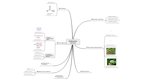 Mind Map: Карбоновые кислоты