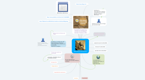 Mind Map: RESILIENCIA INDIVIDUAL