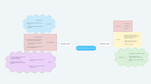 Mind Map: Student individual needs