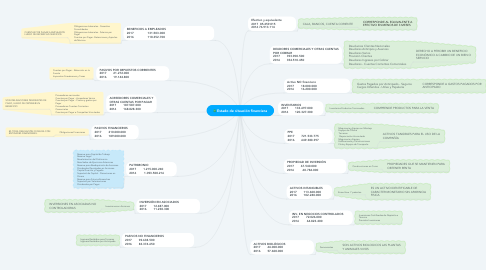 Mind Map: Estado de situación financiera