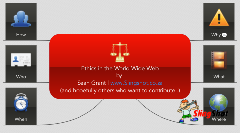 Mind Map: Ethics in the World Wide Web by  Sean Grant | www.Slingshot.co.za (and hopefully others who want to contribute..)