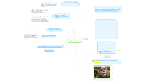 Mind Map: pscologia humanista