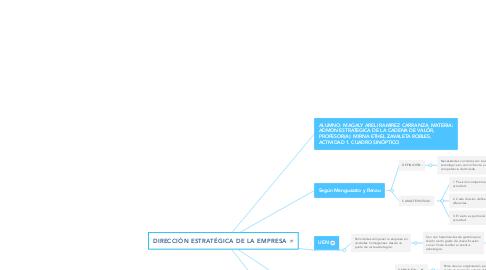 Mind Map: DIRECCIÓN ESTRATÉGICA DE LA EMPRESA