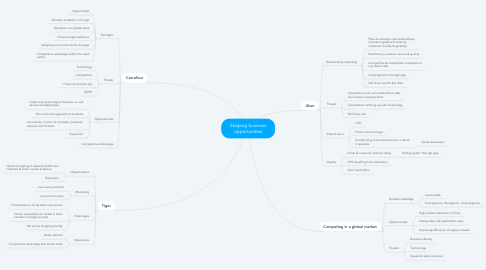 Mind Map: Shaping business opportunities