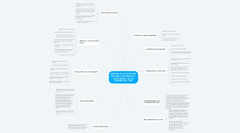 Mind Map: INFORME DE ACTIVIDADES, RECURSOS MATERIALES Y FINANCIEROS DE LOS COMITÉS DEL CEPS