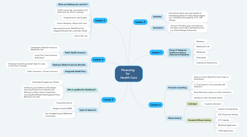 Mind Map: Financing   for   Health Care