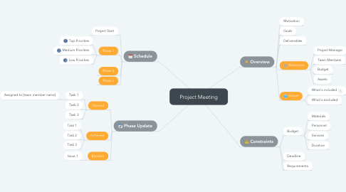 Mind Map: Project Meeting