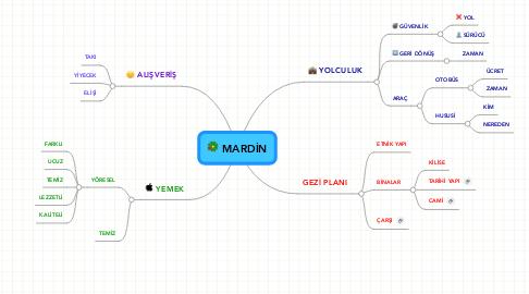 Mind Map: MARDİN
